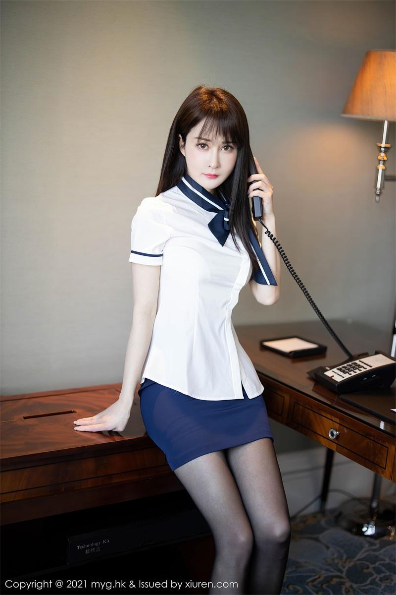 美女写真 黑短裙白衬衫与黑丝吊袜 蔡文钰Abby [68P/573MB] 美丝写真-第3张