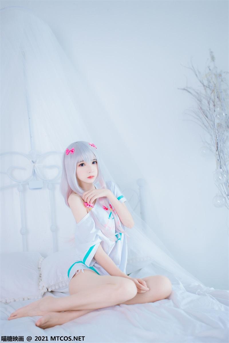 萝莉系列 喵糖映画少女写 VOL.359 纱雾和白猫 [22P/238MB] 喵糖映画-第3张