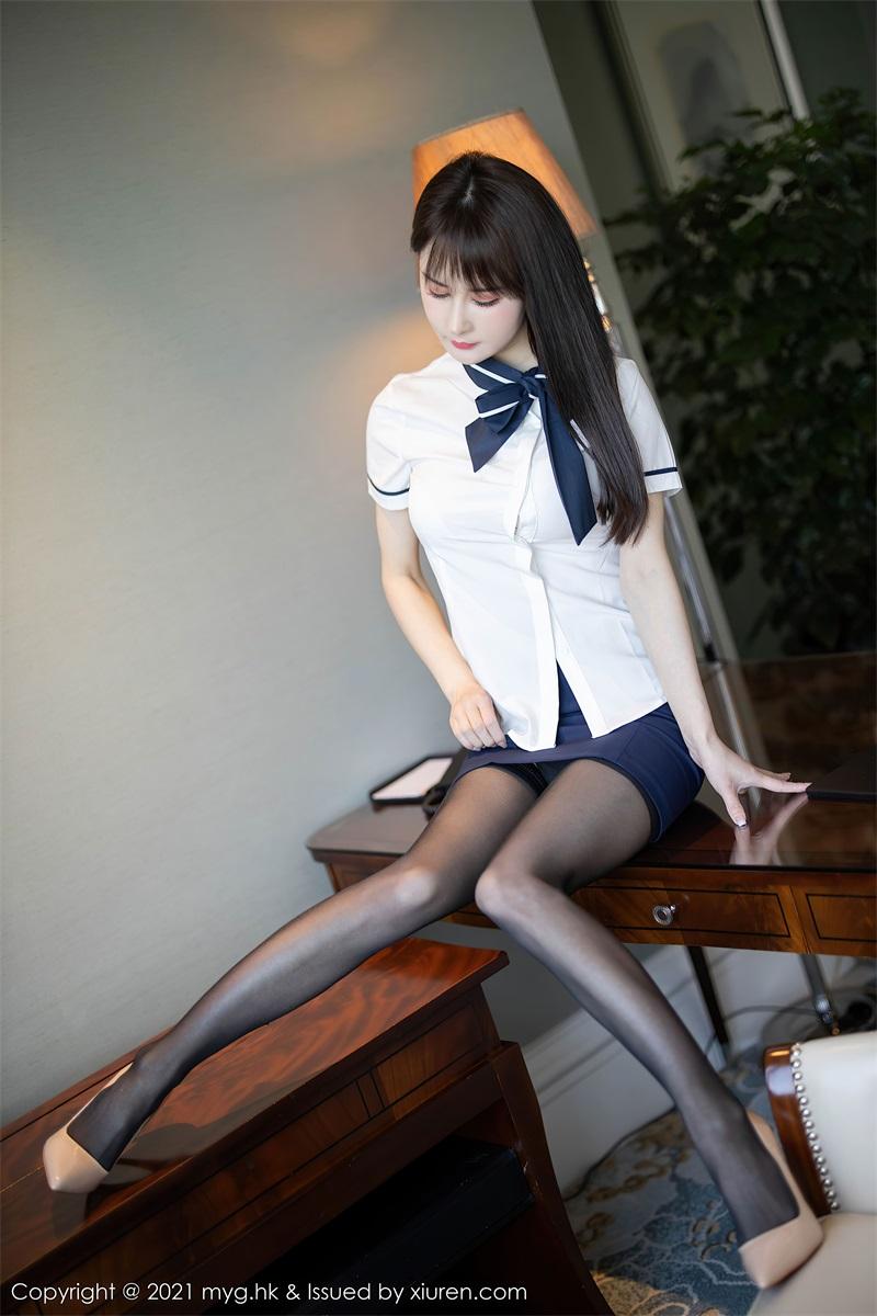 美女写真 黑短裙白衬衫与黑丝吊袜 蔡文钰Abby [68P/573MB] 美丝写真-第2张