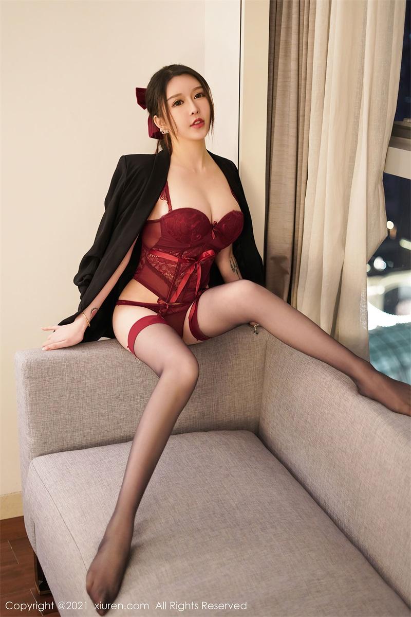 美女写真 红色情趣内衣 玉兔miki [66P/622MB] 美丝写真-第2张