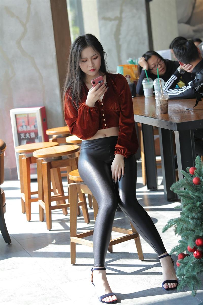 精选街拍 NO.250 红衣皮裤美女 [322P/330MB] 精选街拍-第2张