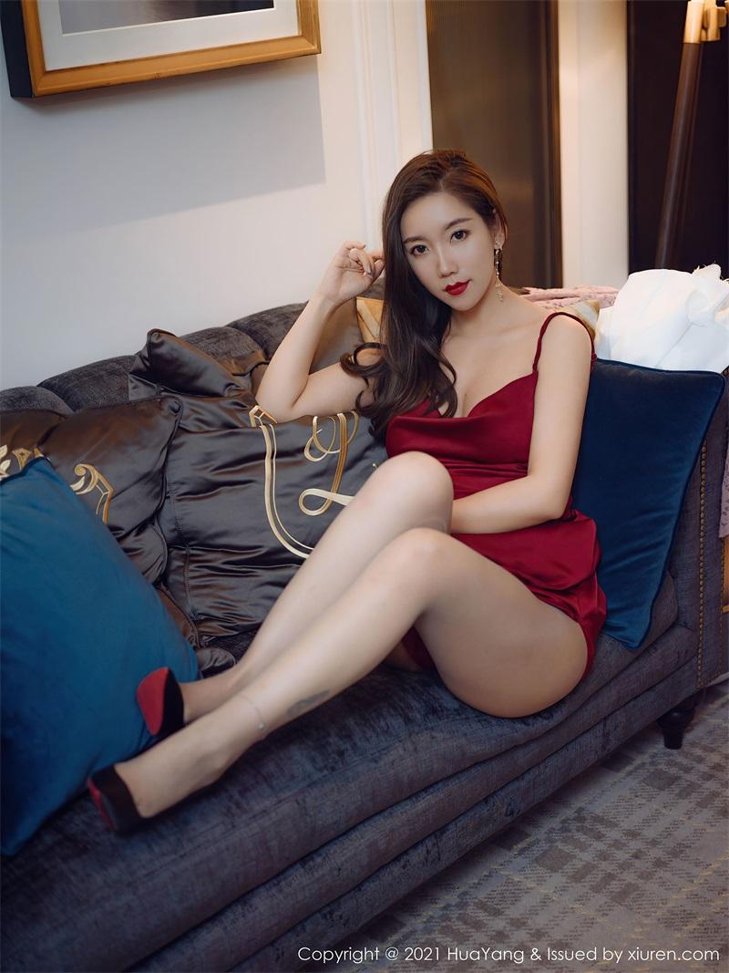 美女写真 鲜艳猩红的吊裙 艾静香 [48P/563MB] 美丝写真-第2张