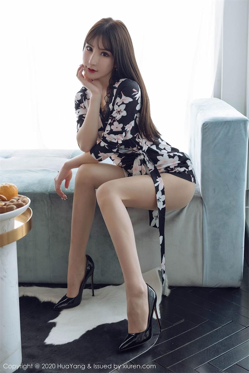 美女写真 黑色印花睡衣 周于希Sandy [61P/566MB] 美丝写真-第2张