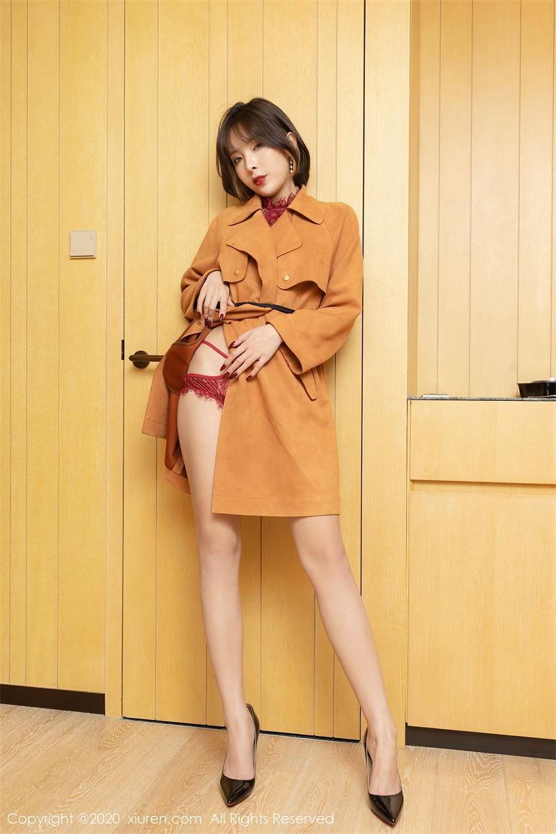 美女写真 飒爽时尚的褐色风衣 陈小喵 [67P/812MB] 美丝写真-第1张