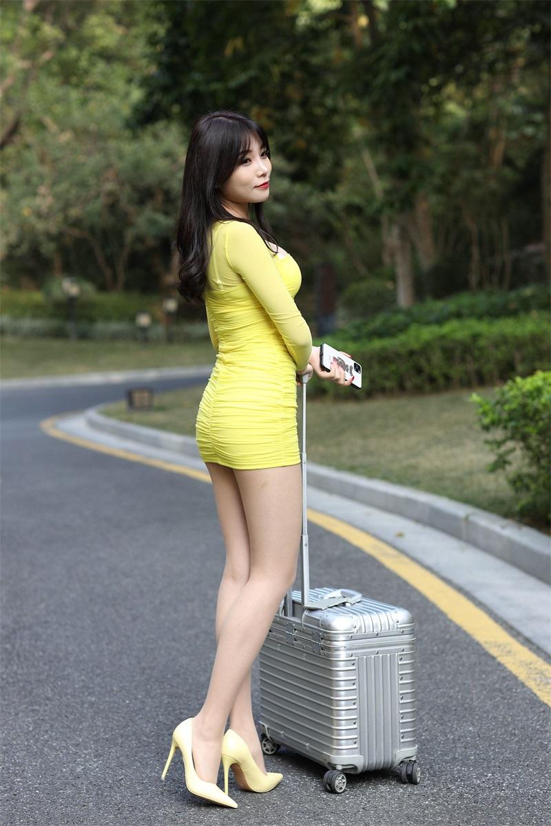 精选街拍 No.210 黄色包臀裙美女 [214P/242MB] 精选街拍-第1张