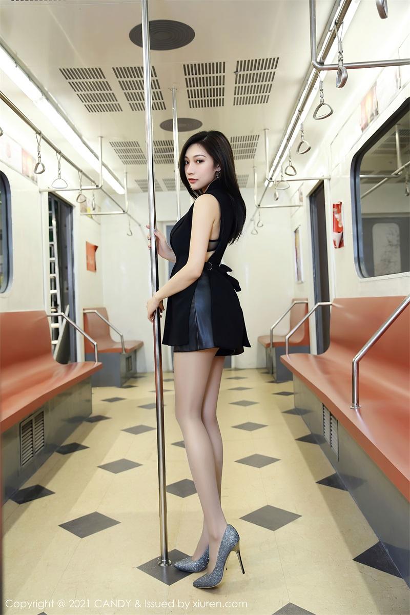 美女写真 地铁场景 小狐狸Kathryn [52P/491MB] 美丝写真-第1张