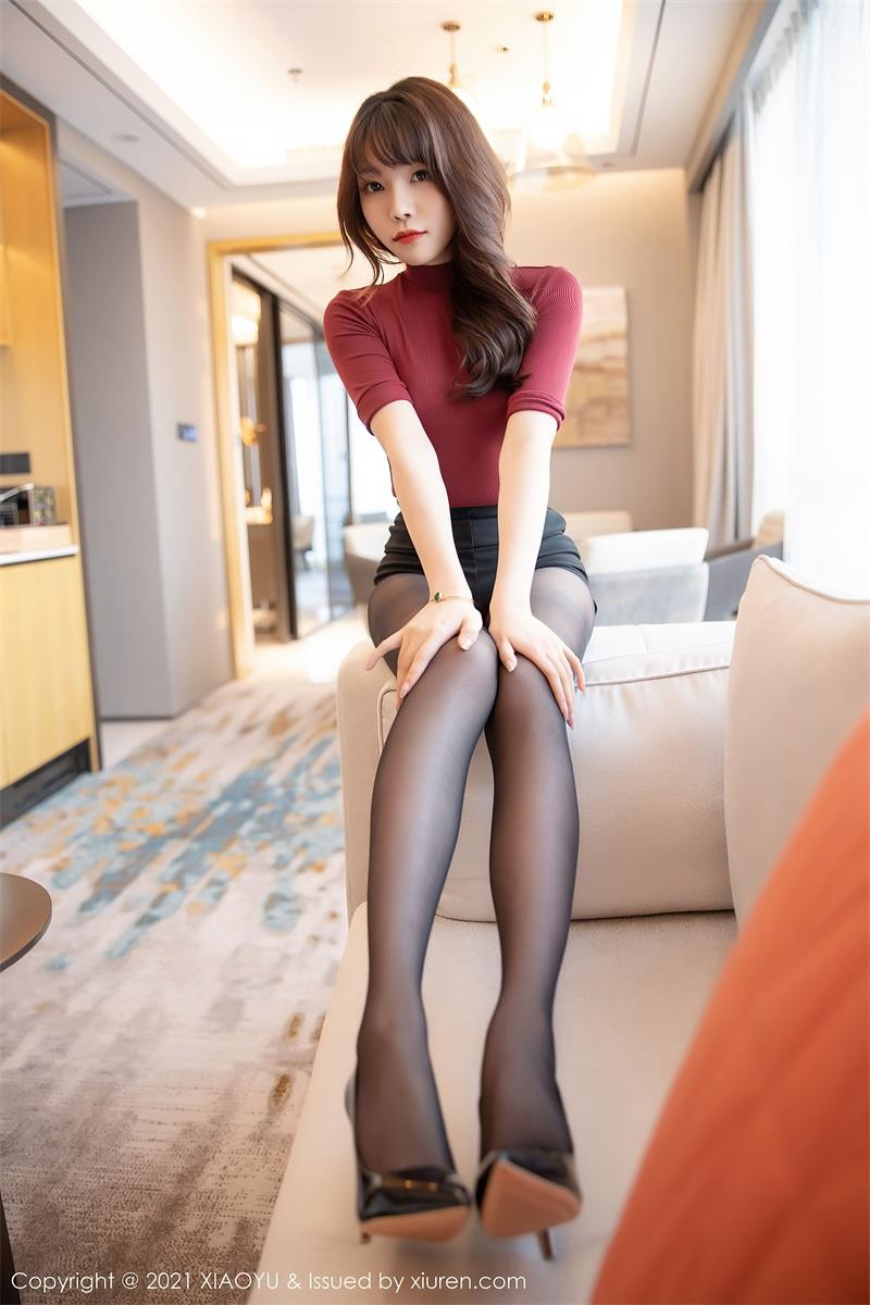 美女写真 鲜红毛衣 芝芝Booty [86P/760MB] 美丝写真-第1张