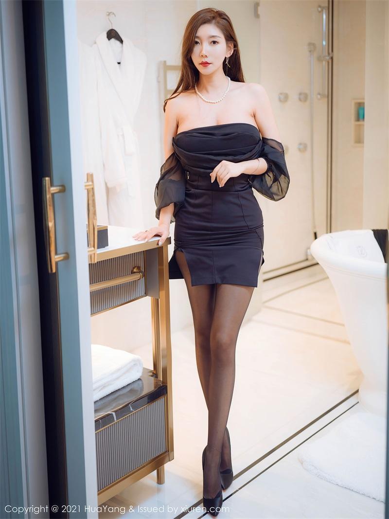 美女写真 黑色姓感的抹胸礼服 艾静香 [44P/483MB] 美丝写真-第1张