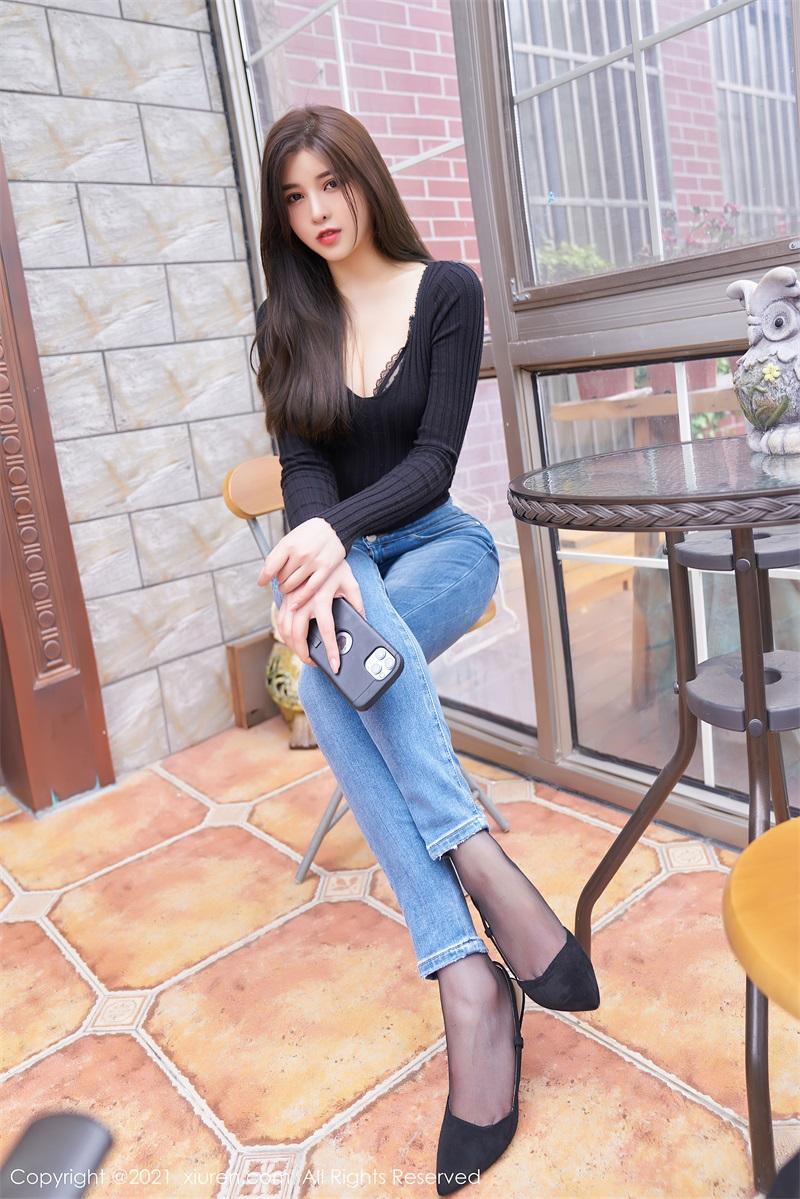 美女写真 直爽动人的牛仔裤与精致镂空内依 韩静安 [61P/619MB] 美丝写真-第1张