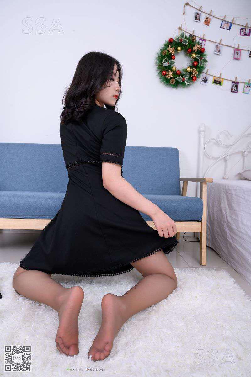 [SSA丝社] NO.161 阿花_黑色连衣裙丰盈少女 [99P/134MB] SSA丝社-第2张