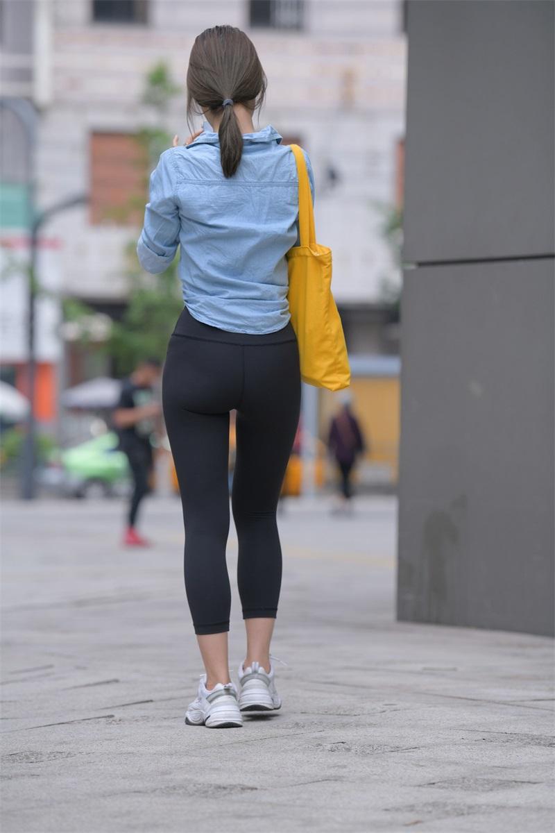 精选街拍 NO.262 黑色瑜伽裤女孩1 [352P/418MB] 精选街拍-第4张