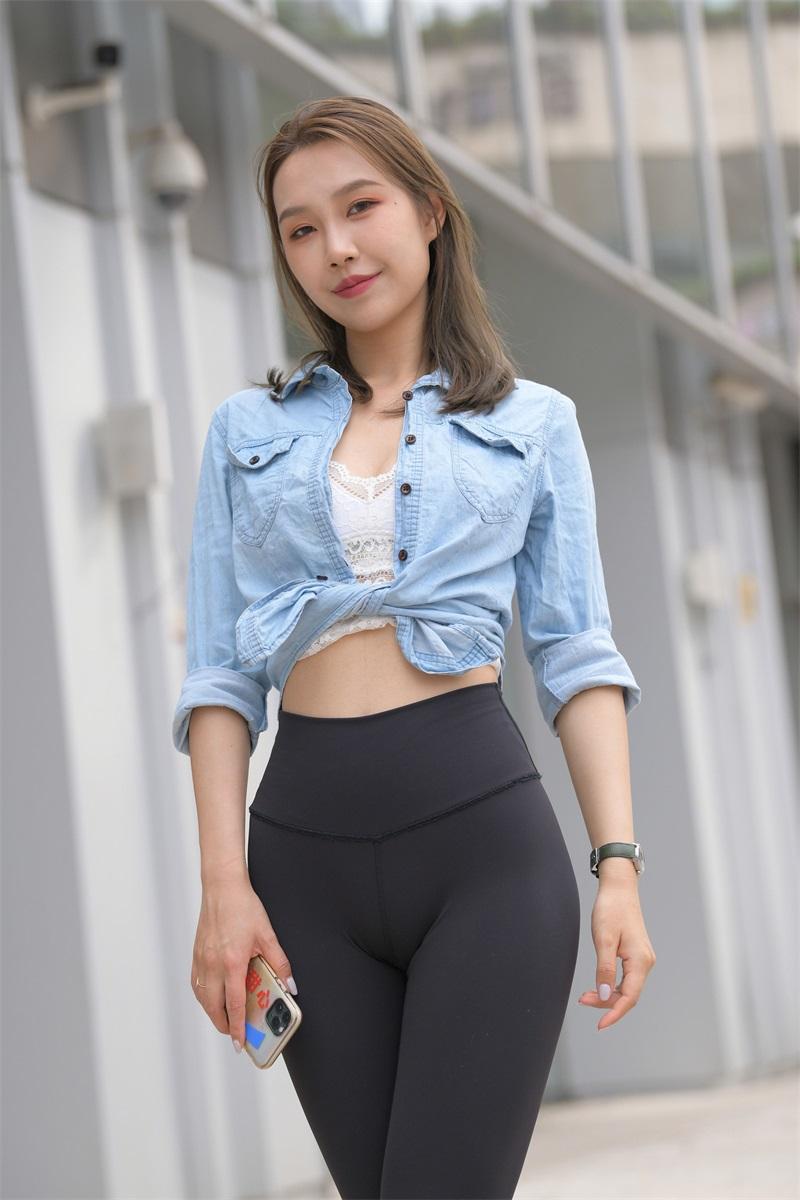 精选街拍 NO.263 黑色瑜伽裤女孩2 [380P/509MB] 精选街拍-第4张