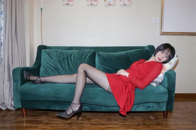 [SiHua思话]SJ033 新模 沐沐子 红裙皮鞭の姓感犹物 [43P/80MB] 思话-第4张