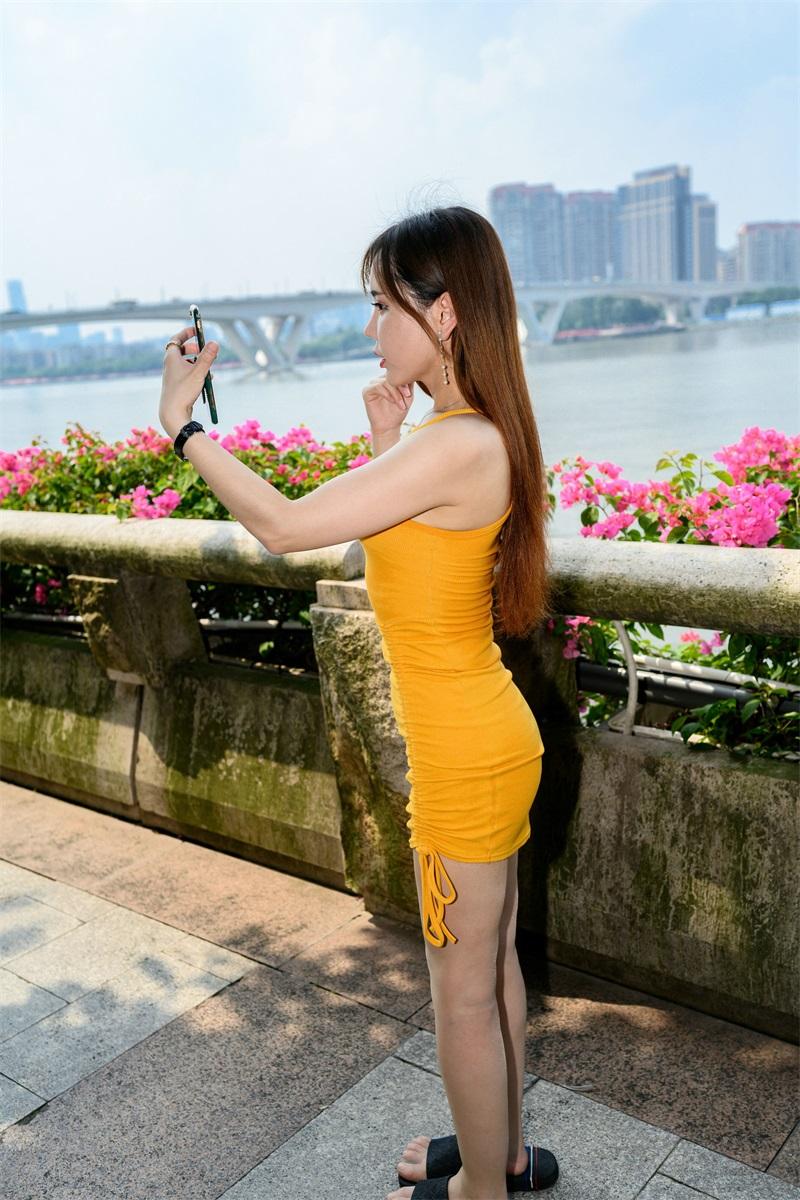 精选旅拍 NO.051 艾小青 橙色吊带肉丝游珠江2 [98P/216MB] 精选旅拍-第4张