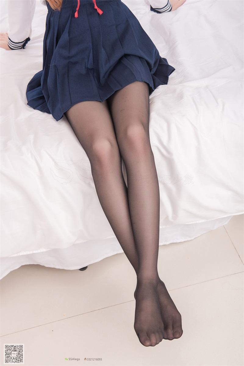 [SSA丝社] 超清版 NO.023 琪琪 笑容治愈女神琪琪的黑色开档丝袜 [99P/1.02GB] SSA丝社-第4张