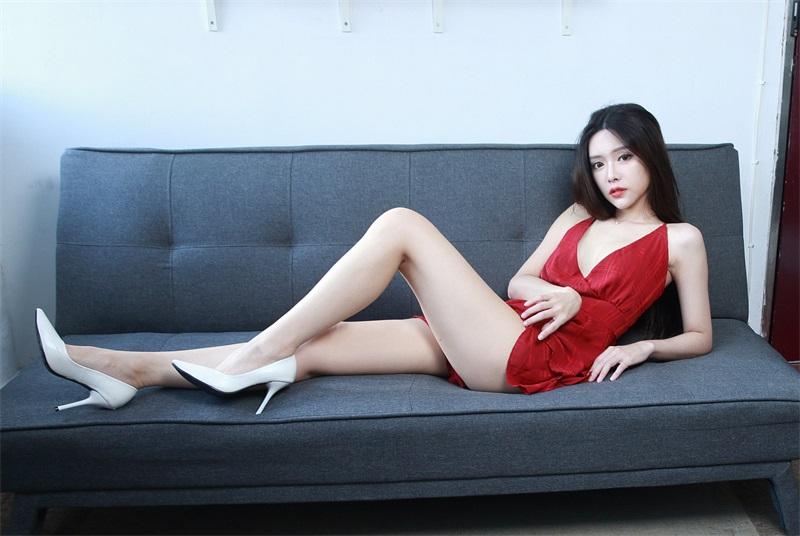 精选模拍 NO.039 莊舒潔 吊帶連衣短裙高跟美腿 [65P/65MB] 精选模拍-第4张