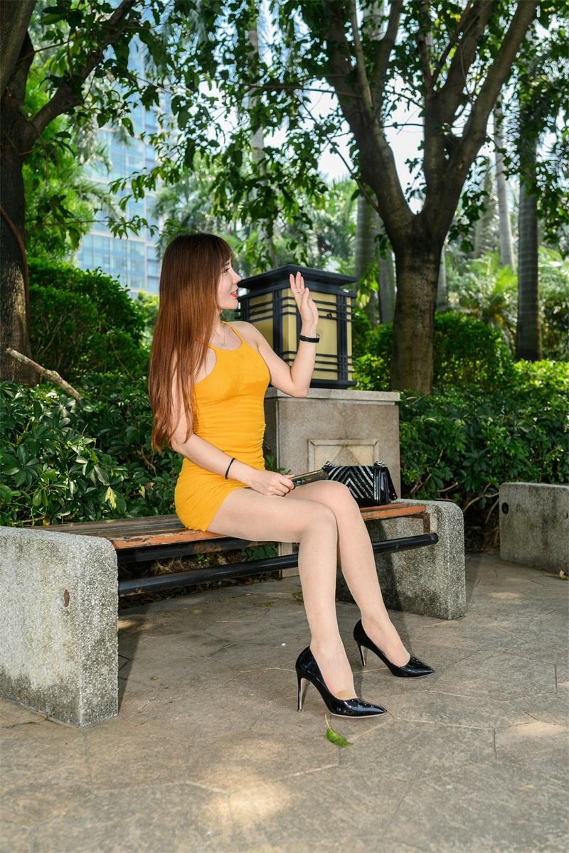 精选旅拍 NO.051 艾小青 橙色吊带肉丝游珠江2 [98P/216MB] 精选旅拍-第3张