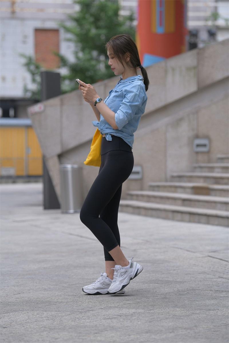 精选街拍 NO.262 黑色瑜伽裤女孩1 [352P/418MB] 精选街拍-第2张