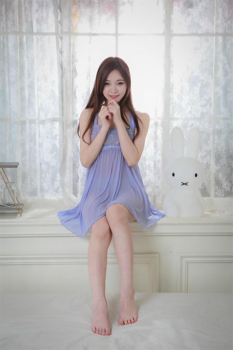 精选模拍 NO.033 蘇小立 紫色姓感睡衣裸足美腿 [116P/195MB] 精选模拍-第2张