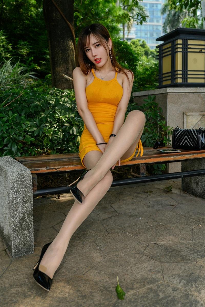 精选旅拍 NO.051 艾小青 橙色吊带肉丝游珠江2 [98P/216MB] 精选旅拍-第1张